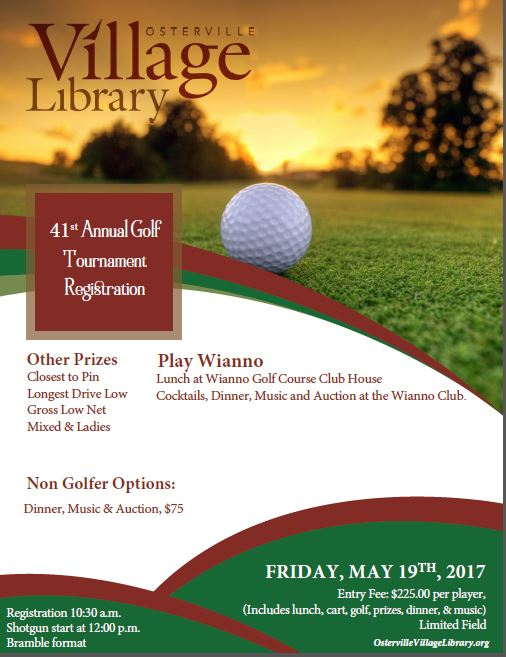 41st Annual Osterville Library Wianno Club Golf Event