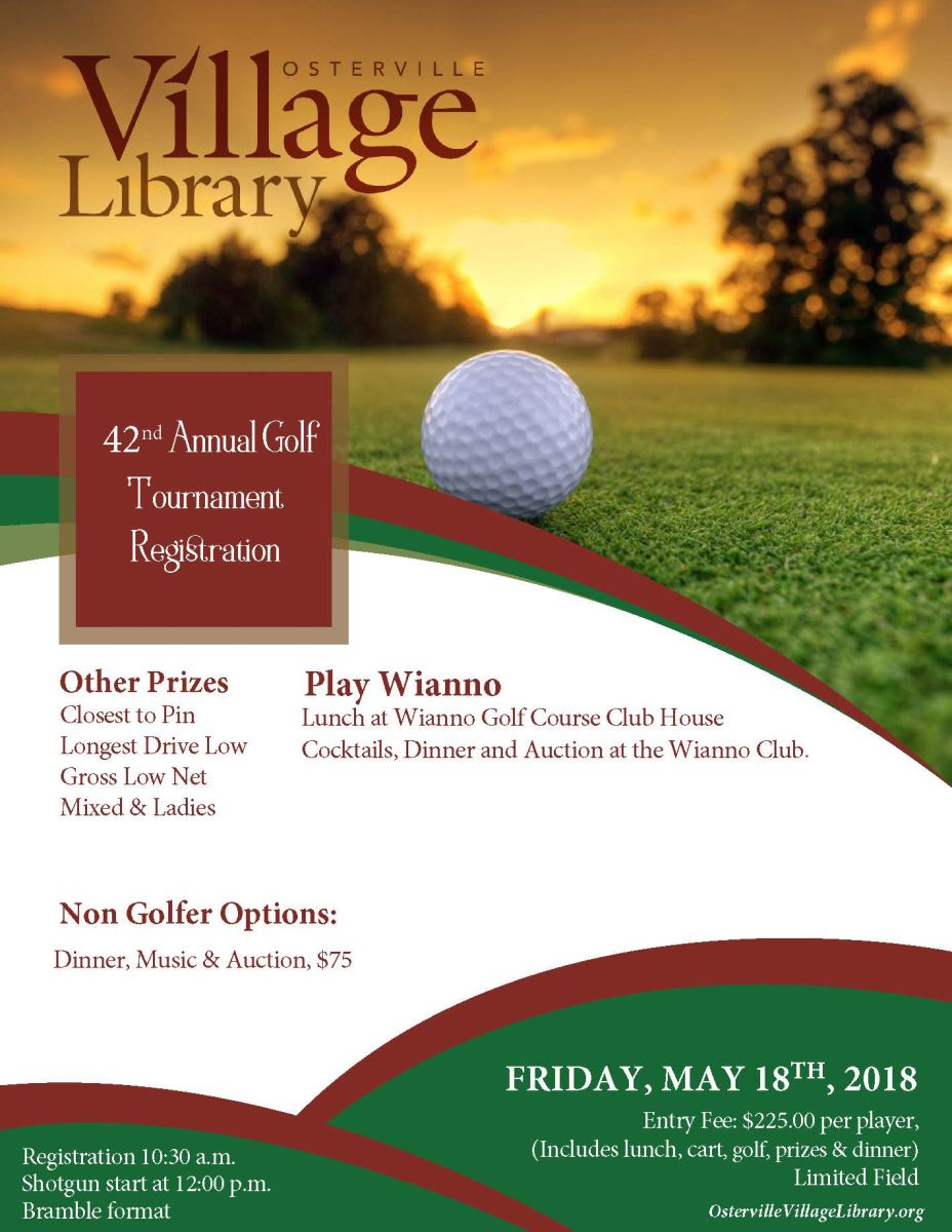 42st Annual Osterville Library Wianno Club Golf Event