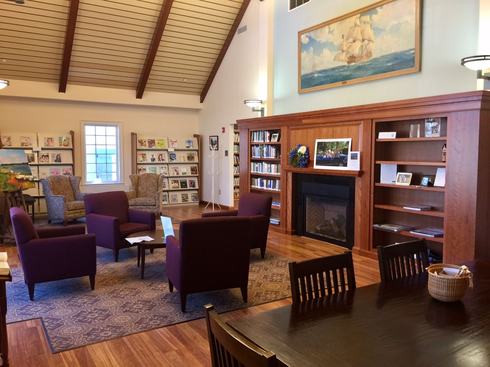 Caronym Crosset Rowland Fireside Reading room
